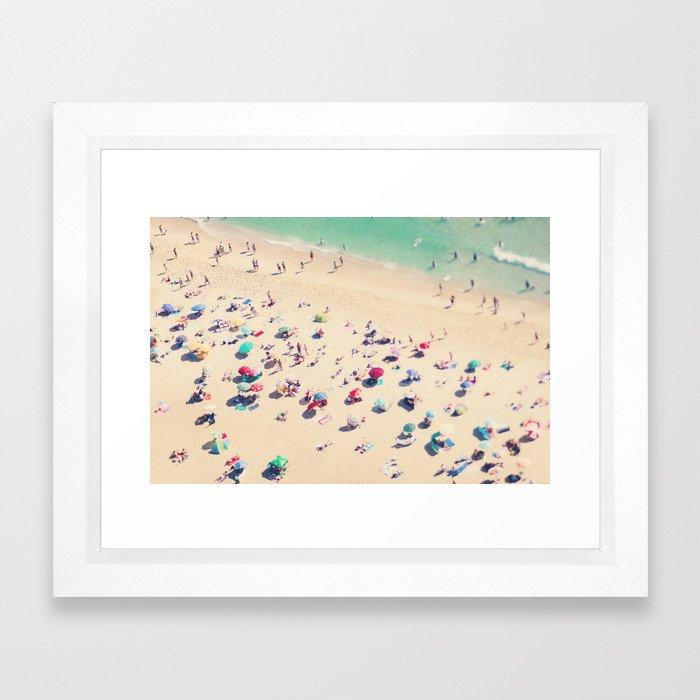 beach summer in love Framed Art Print