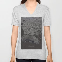 Los Angeles - city map Unisex V-Neck