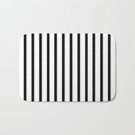 Stripes Black And White | Beetle Juice | Fuzzy Bath Mat