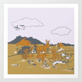 Southwest Desert Walkabout Art Print