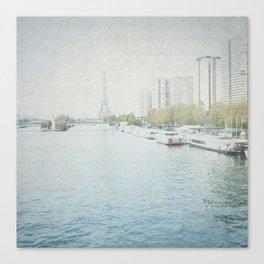 Letters From Les Barges - Paris Canvas Print