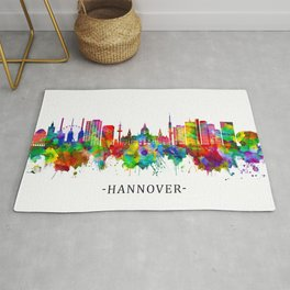 Hanover Germany Skyline Rug