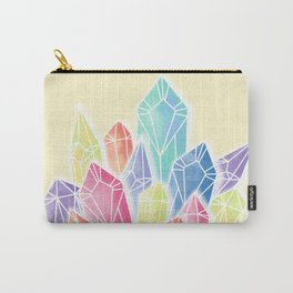 Crystals Yellow Carry-All Pouch