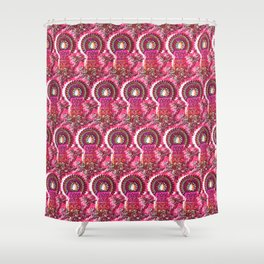 Pink Vintage Christmas Shower Curtain