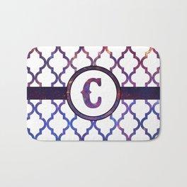 Galaxy Monogram: Letter C Bath Mat
