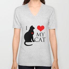 I love my cat Unisex V-Neck