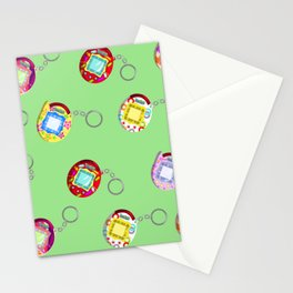 Tamagotchi Connection V2-Green Stationery Cards