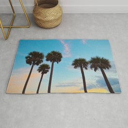 Palm Tree Silhouettes Rug