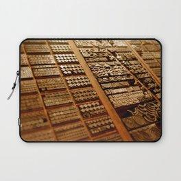 Art in Letterpress Laptop Sleeve