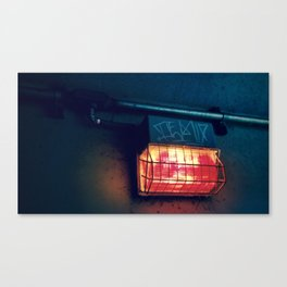 Tunnel Light - Retro Canvas Print