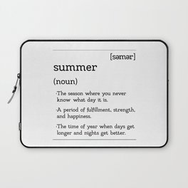 The Easy Breezy Definition of Summer Laptop Sleeve