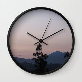 Purple Hills Wall Clock