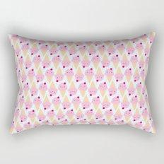 Kawaii Ice Cream Cones Rectangular Pillow