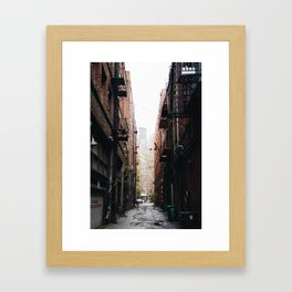 Alley in the city of Seattle Washington Framed Art Print