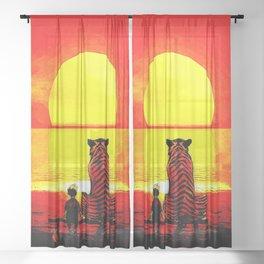 Watching The Sunset Sheer Curtain