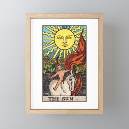 XIX. The Sun Tarot Card Framed Mini Art Print