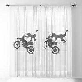 Motocross High Flying Jump Sheer Curtain