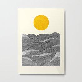 The Grey Waves Metal Print