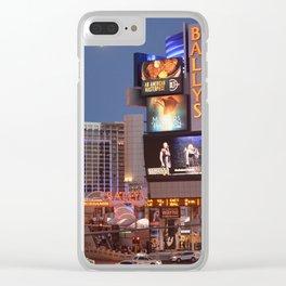 Las Vegas moon Clear iPhone Case