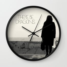 There Be Dragons Wall Clock