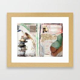 Thinkin' & Planning Framed Art Print