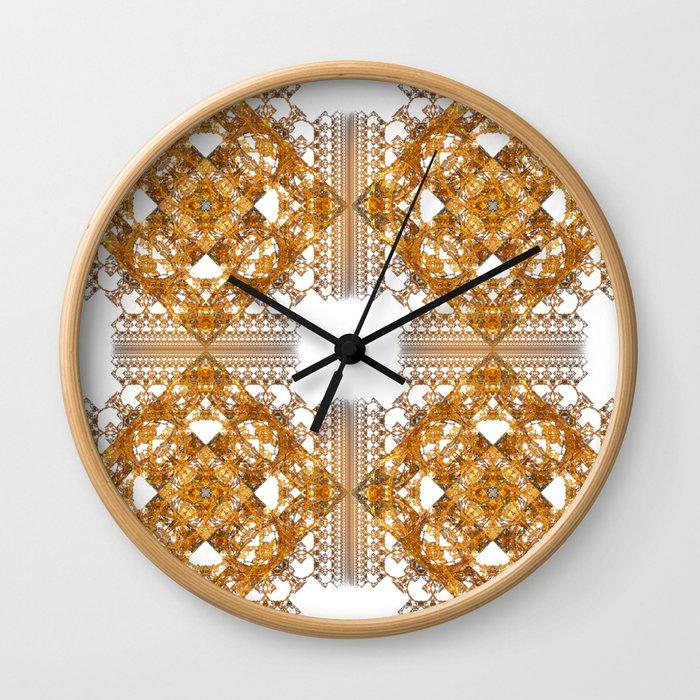 Fractal Art - Tiki Gold 2 Wall Clock