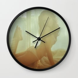Vintage Girl - Erotic Art Wall Clock
