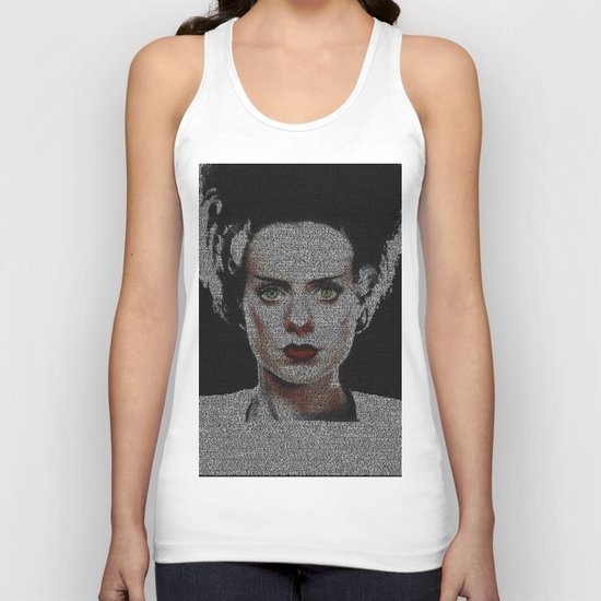 The Bride of Frankenstein Screenplay Print Unisex Tank Top