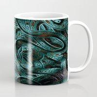 viking Mugs featuring Viking by RingWaveArt