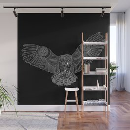 Coloring Book Owl Inverse Wall Mural