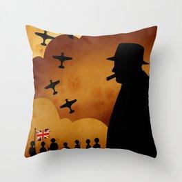Winston Churchill - World War II Throw Pillow