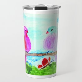 Birds and Butterflies Travel Mug