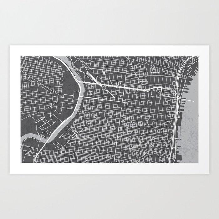 Center city philadelphia map art print by philadelphiamapcompany center city philadelphia map art print freerunsca Gallery