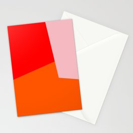 red orange pink Stationery Cards