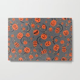 Halloween Magic- Grey Metal Print