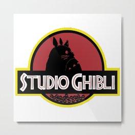 ghibli studio jurassic style Metal Print
