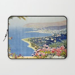 San Remo - Italy Vintage Travel Poster 1920 Laptop Sleeve