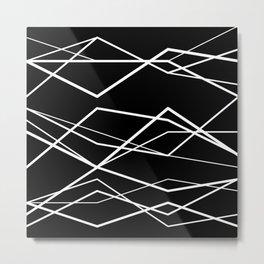 Geometric Pattern #68 (zigzag waves) Metal Print