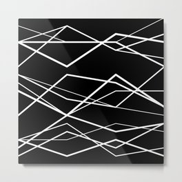 Geometric Pattern 68 (zigzag waves) Metal Print
