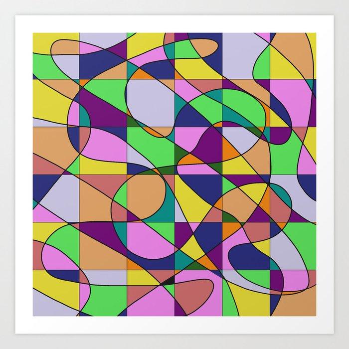 Pastel Pieces Art Print