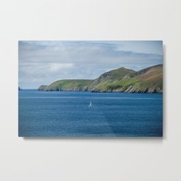 Sailboat by the Blasket Islands Metal Print