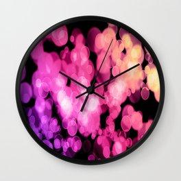 Lavender Pink Peach Bokeh Wall Clock