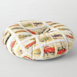 Vintage Rides Floor Pillow