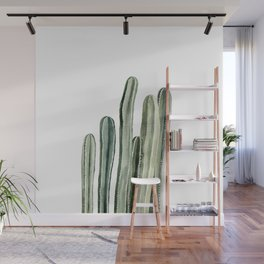 Tall Cacti Watercolor Painting Wall Mural