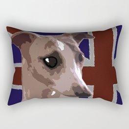 Buddy the whippet Rectangular Pillow
