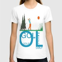 golf T-shirts featuring Golf, golf, golf! by South43