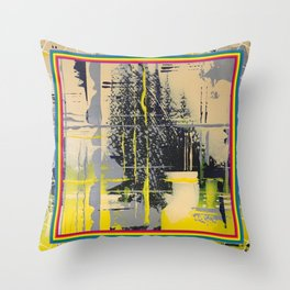 Sunday Morning - colour frame Throw Pillow