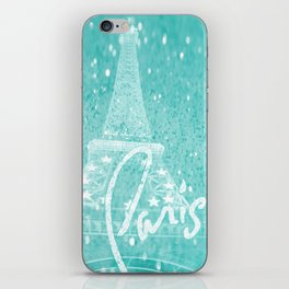 Paris in Aqua iPhone Skin