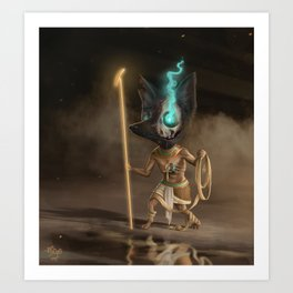Anubis, old God of mummification and the afterlife Art Print