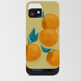 Oranges on yellow iPhone Card Case